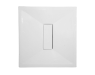 54240028000 - Slim 100x100 cm Square Flat, Acrylic Waste Cover