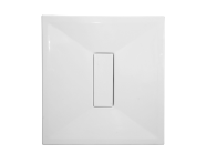 54240029000 - Slim 100x100 cm Square Flat, Chrome Waste Cover