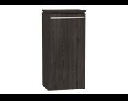 54252 - System Fit Medium Unit Grey Oak Right 40 cm