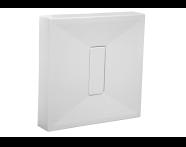 54500028000 - Slim 90x90 cm Square Monobloc, Acrylic Waste Cover