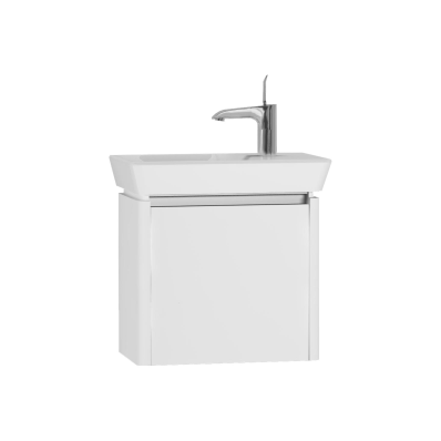 T4 Compact Washbasin Unit 50 cm (Left), White High Gloss