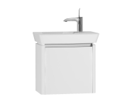 54537 - T4 Compact Washbasin Unit 50 cm (Right), White High Gloss