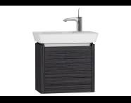 54539 - T4 Compact Washbasin Unit 50cm (Right), Hacienda Black