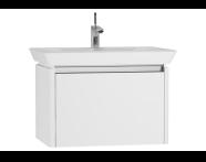 54561 - T4 Washbasin Unit 70cm, White High Gloss