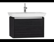 54563 - T4 Washbasin Unit 70cm, Hacienda Black
