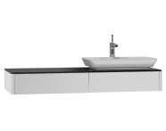 54585 - T4 Short Counter Unit 130 cm, White High Gloss