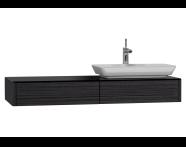 54587 - T4 Short Counter Unit 130 cm, Hacienda Black