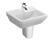5460L003-0001 - S50 WashBasin, 50cm with Middle Tap Hole, with Side Holes