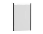 54628 - T4 Illuminated Mirror, 50 cm, Hacienda Black