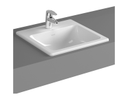 5463B003-0001 - S20 Countertop Basin, 45cm with Middle Tap Hole, with Side Holes