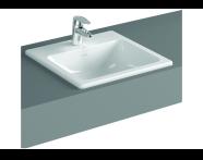 5465B095-0001 - S20 Countertop Basin, 55 cm