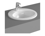 5466B003-0001 - S20 Countertop Basin, 43cm with Middle Tap Hole, with Side Holes