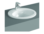 5467B003-0001 - S20 Countertop Basin, 48 cm with Middle Tap Hole, with Side Holes
