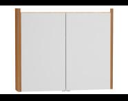 54687 - T4 Illuminated Mirror Cabinet, 90 cm, Hacienda Brown
