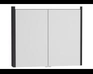 54688 - T4 Illuminated Mirror Cabinet, 90 cm, Hacienda Black