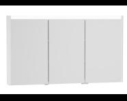 54692 - T4 Illuminated Mirror Cabinet, 130 cm, White High Gloss