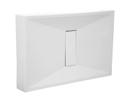 54720028000 - Slim 140x75 cm Rectangular Monobloc, Acrylic Waste Cover
