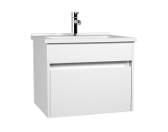 54734 - S50 + Washbasin Unit 60 cm White High Gloss