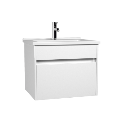 S50 + Washbasin Unit 60 cm White High Gloss