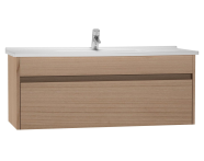 54747 - S50 + Washbasin Unit 120 cm Golden Cherry