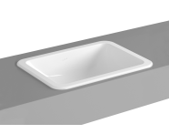 5474B003-0642 - S20 Countertop Basin, 50cm without Tap Hole, with Side Holes