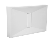 54750028000 - Slim 140x90 cm Rectangular Monobloc, Acrylic Waste Cover