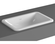 5475B003-0642 - S20 Countertop Basin, 55cm without Tap Hole, with Side Holes
