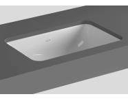 5475B003H0618 - S20 Undercounter Basin, 48 cm, without Tap Hole, with Side Holes