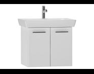 54782 - S20 Lavabo dolabı, 60 cm, Parlak beyaz