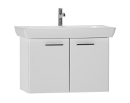 54784 - S20 Washbasin Unit 85 cm, White High Gloss