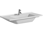 5479B003-0001 - S50 Vanity Basin, 100cm with Middle Tap Hole, with Side Holes