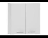 54803 - S20 Upper Cabinet,  White High Gloss