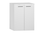 54805 - S20 Washing Machine Cabinet, White High Gloss