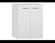 54805 - S20 Washing Machine Cabinet, White High Gloss