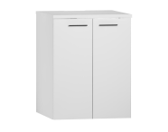 54807 - S20 Washing Machine Cabinet U-Hollow White High Gloss