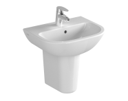 5500L003-0001 - S20 Basin, 45cm with Middle Tap Hole, with Side Holes