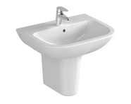 5502L003-0001 - S20 Basin, 55cm with Middle Tap Hole, with Side Holes