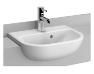 5521B003-0001 - S20 Recessed Basin, 45cm with Middle Tap Hole, with Side Holes