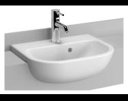 5521B095-0001 - S20 Compact Semi-Recessed Washbasin, 45 cm