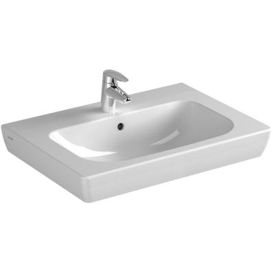 S20 Vanity Basin, 65 cm, with Middle Tap Hole, with Side Holes