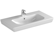 5523B003H0001 - S20 Vanity Basin, 85 cm, with Middle Tap Hole, with Side Holes
