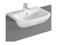 5524B003-0001 - S20 Recessed Basin, 55cm with Middle Tap Hole, with Side Holes