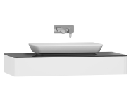 55338 - T4 Short Counter Unit 100 cm, White High Gloss