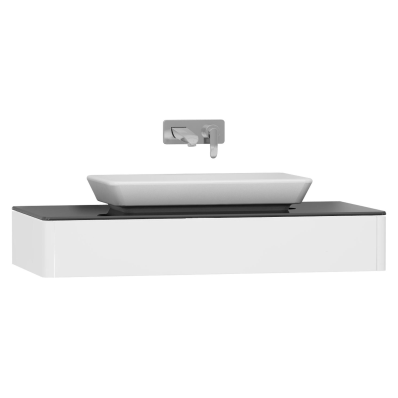 T4 Short Counter Unit 100 cm, White High Gloss