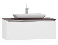 55344 - T4 High Counter Unit 100 cm, White High Gloss