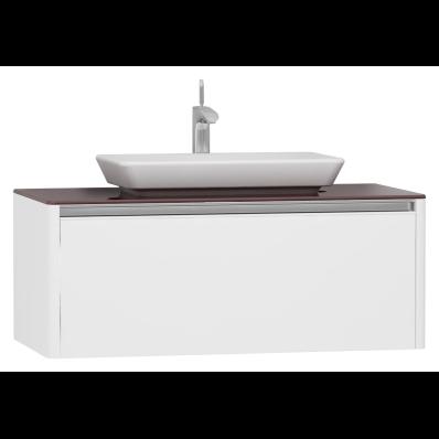T4 High Counter Unit 100 cm, White High Gloss