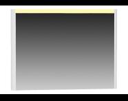 55358 - T4 Illuminated Mirror, 100 cm, White High Gloss