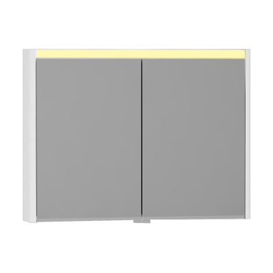 T4 Illuminated Mirror Cabinet, 100 cm, White High Gloss