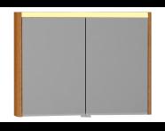 55365 - T4 Illuminated Mirror Cabinet, 100 cm, Hacienda Brown