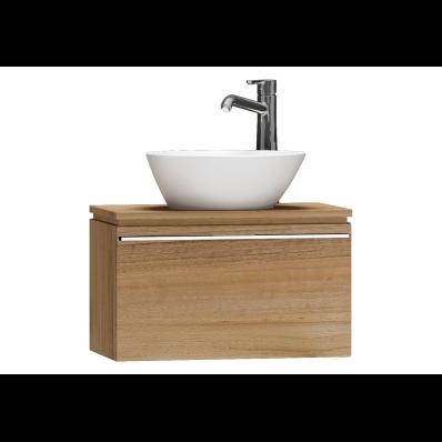 System Fit Washbasin Unit, 60x34x37 cm, Waved Natural Wood
